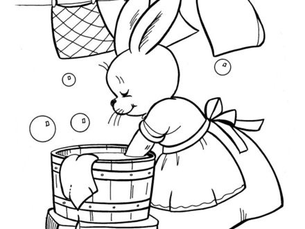 Laundry Coloring Pages