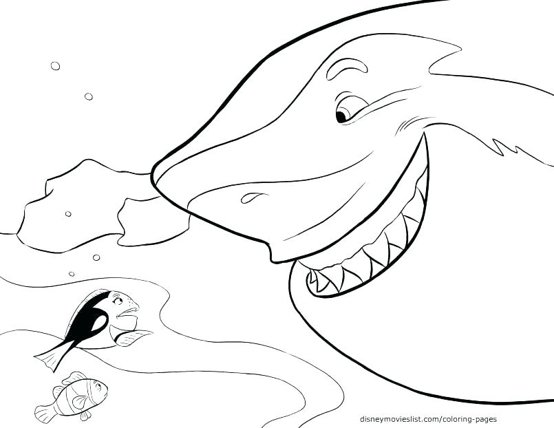 805x622 Coloring Page Shark Coloring Page Of Shark Happy Cute Shark Free