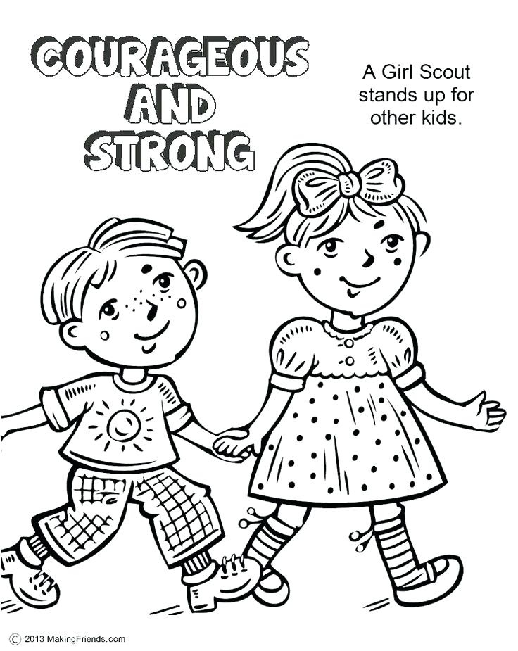 736x925 Girl Scout Law And Promise Coloring Pages Brownie Sheet Wisekids