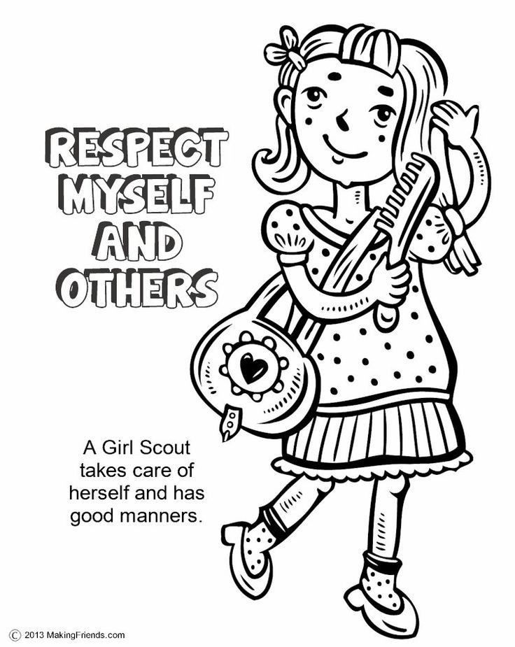 736x925 Girl Scout Law Coloring Book