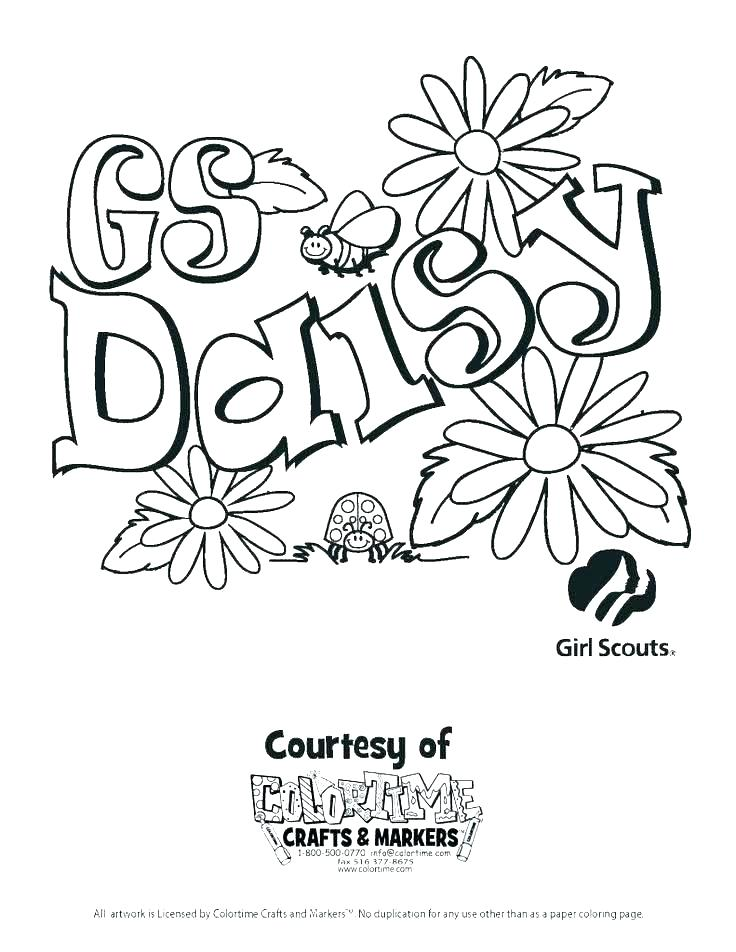 736x952 Girl Scout Law Coloring Pages Brownies Sheets Promise Daisies Girl