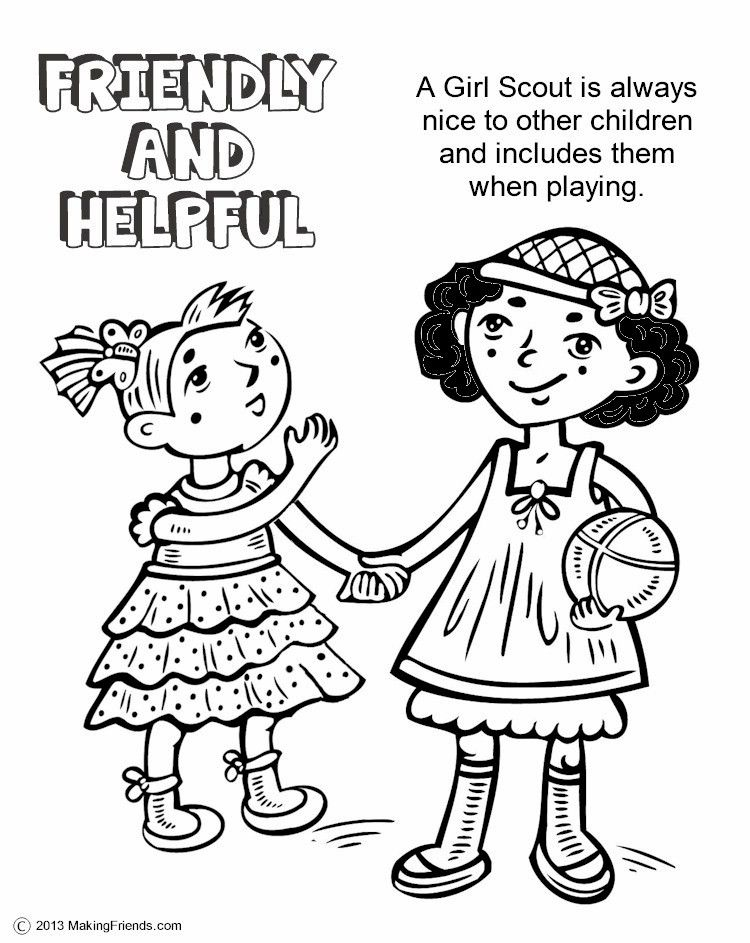 750x943 Girl Scout Law Coloring Pages Collection