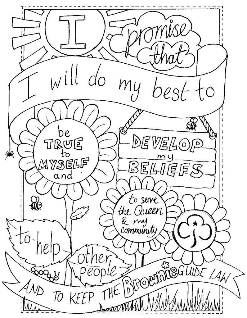 796x1024 Innovative Girl Scout Law Coloring Pages