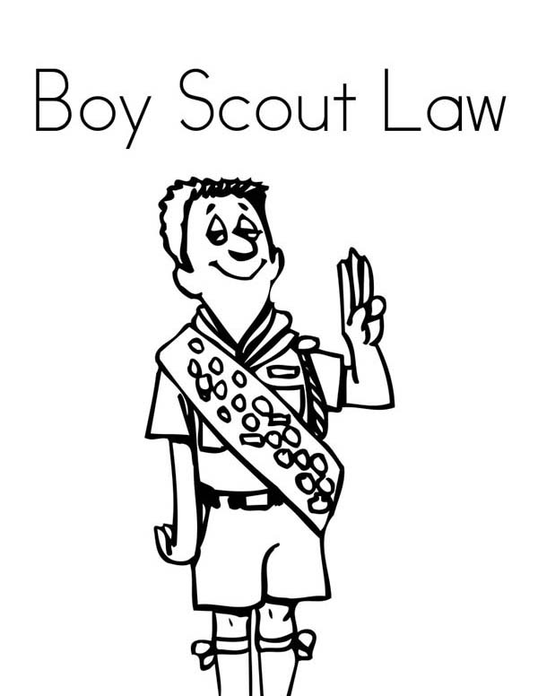 600x776 Obey Boy Scouts Law Coloring Pages Obey Boy Scouts Law Coloring