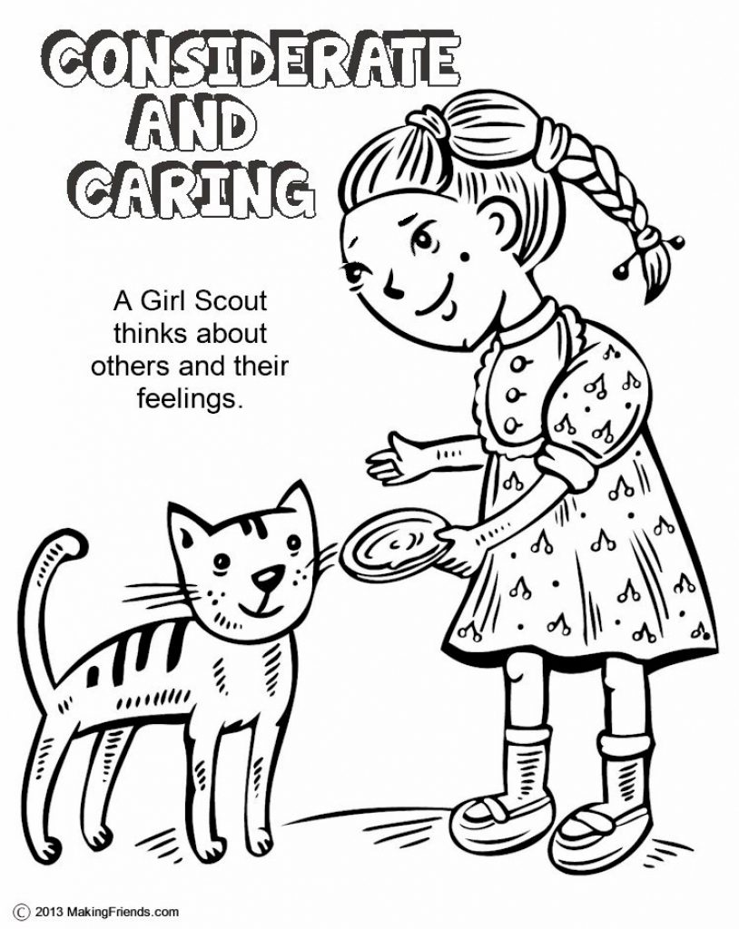 814x1024 Obsession Considerate And Caring Coloring Page