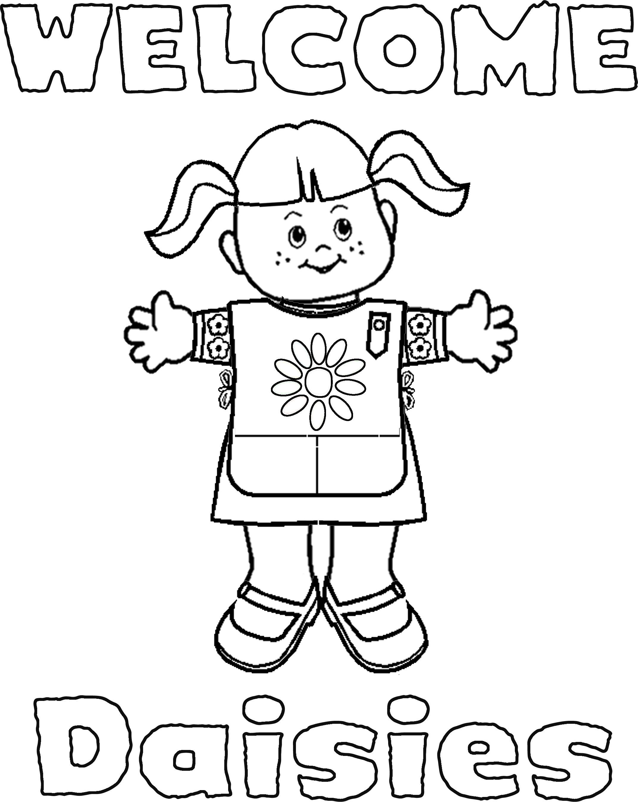 2145x2697 Reduced Daisy Girl Scout Law Coloring Pages Scouts