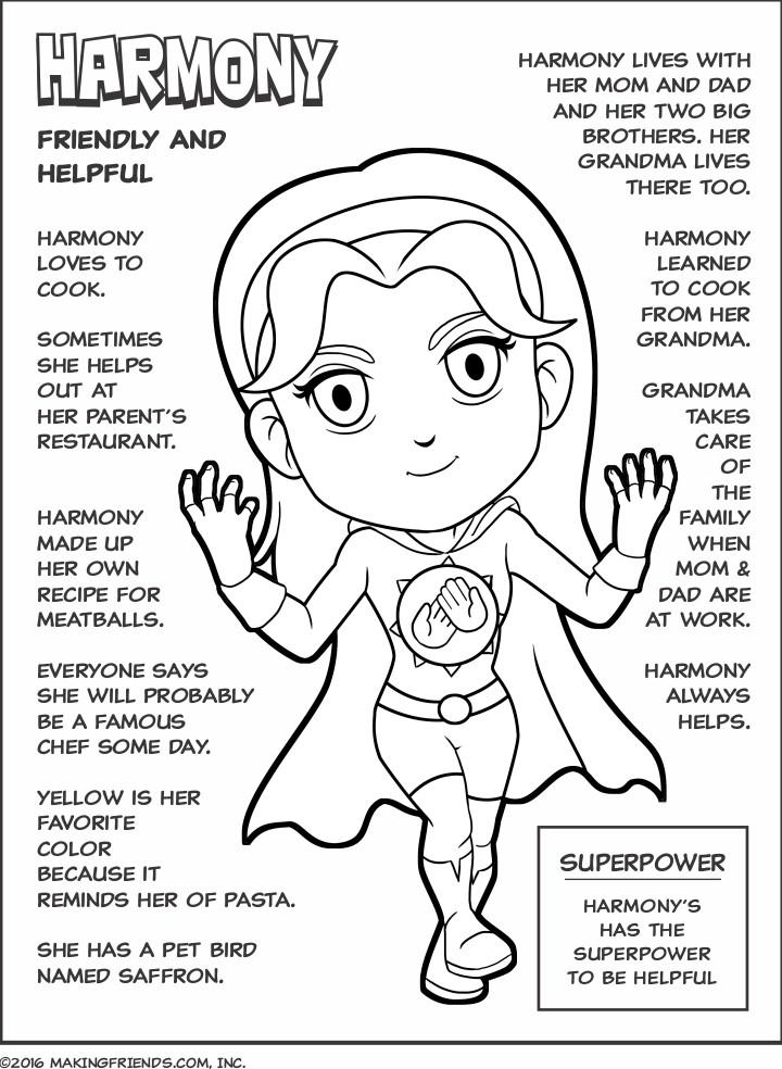 720x984 Superhero Scout Law Coloring Pages