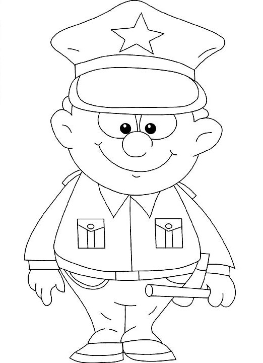 522x720 Police Coloring Pages