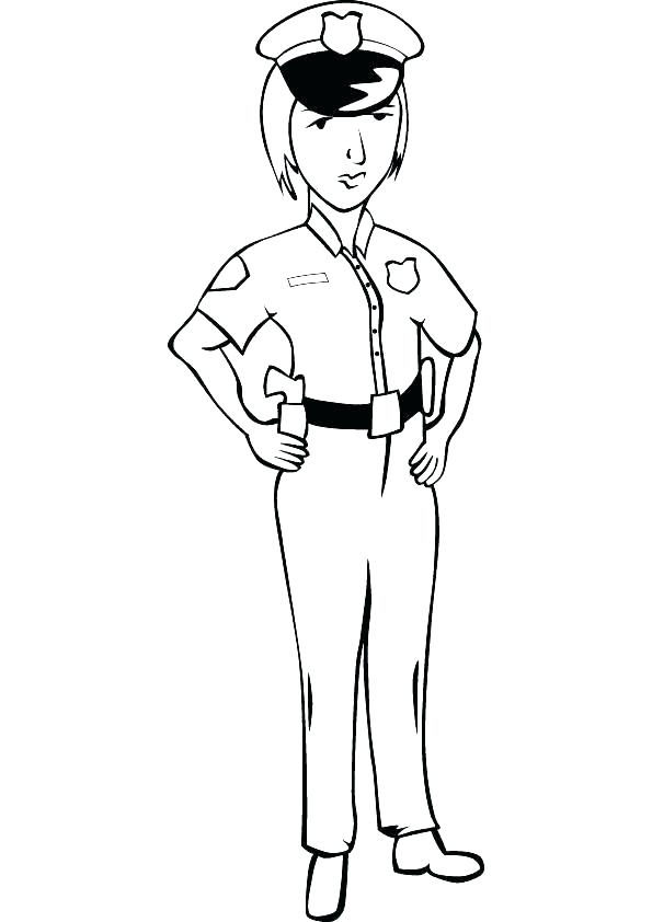 595x842 Police Hat Coloring Page Policeman Coloring Page Police Coloring