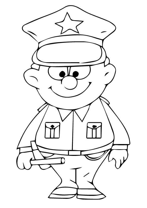 595x842 Printable Images Of Cute Police Coloring Page For Free To Download