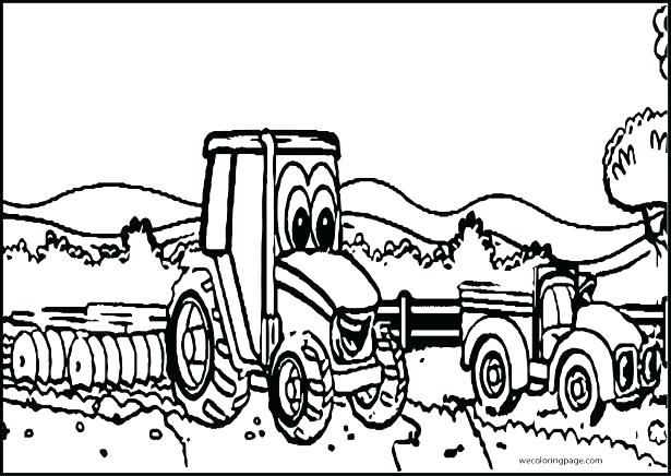 615x436 Free Tractor Coloring Pages Free Tractor Coloring Pages Pin Drawn