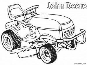 300x223 John Deere Lawn Mower Coloring Pages Kids John