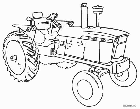 580x452 Printable John Deere Coloring Pages For Kids