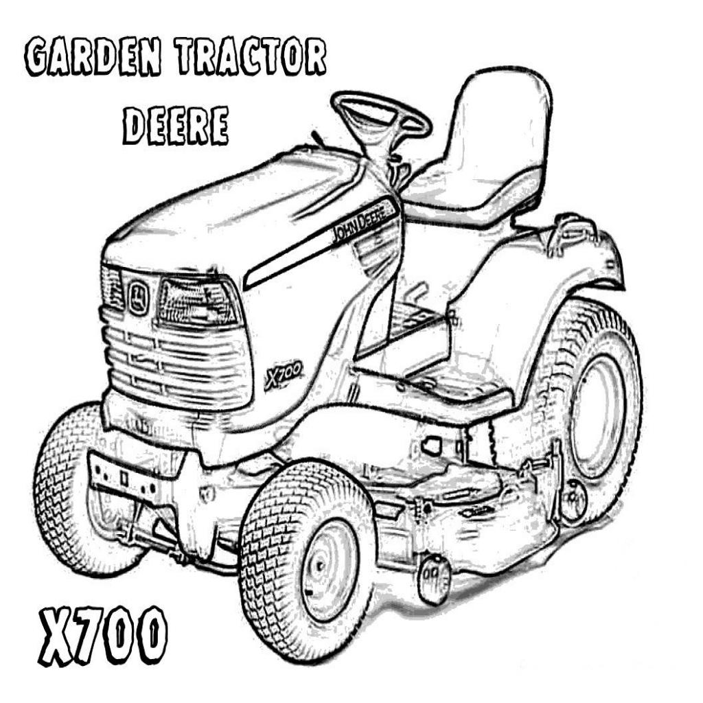 1024x1024 Coloring Pages Tractors John Deere Fitfru Style John Deere
