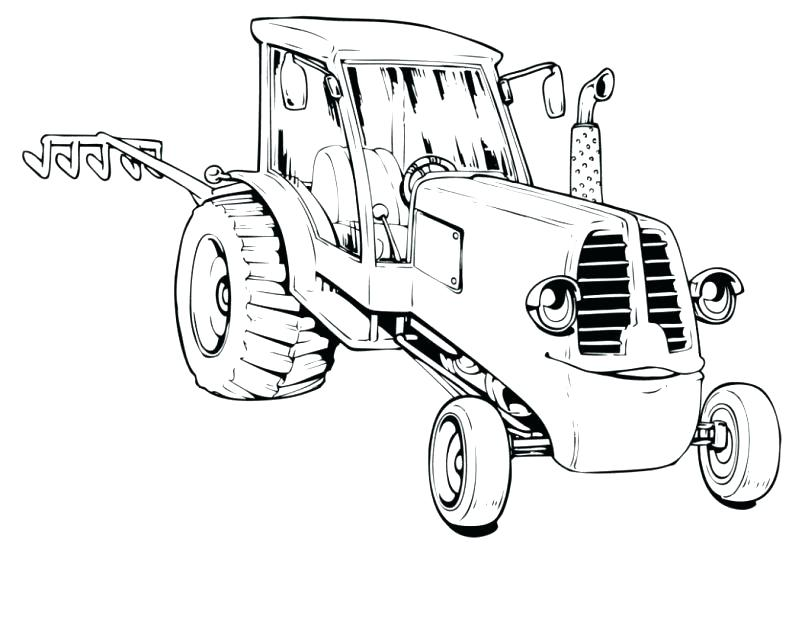 805x622 Free Tractor Coloring Pages