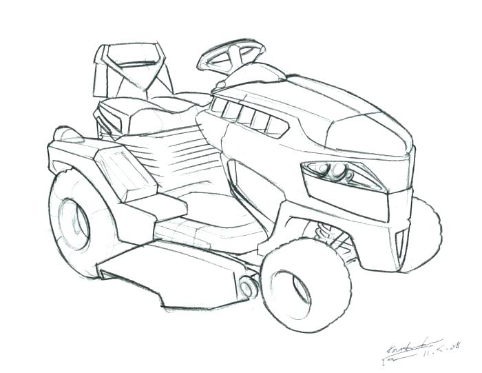 Lawn Mower Coloring Page at GetDrawings.com | Free for ...