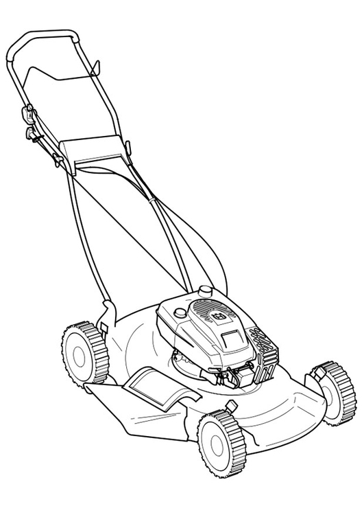 531x750 Coloring Page Lawn Mower