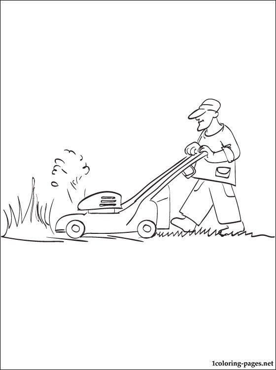 560x750 Coloring Page Lawn Mower Coloring Pages
