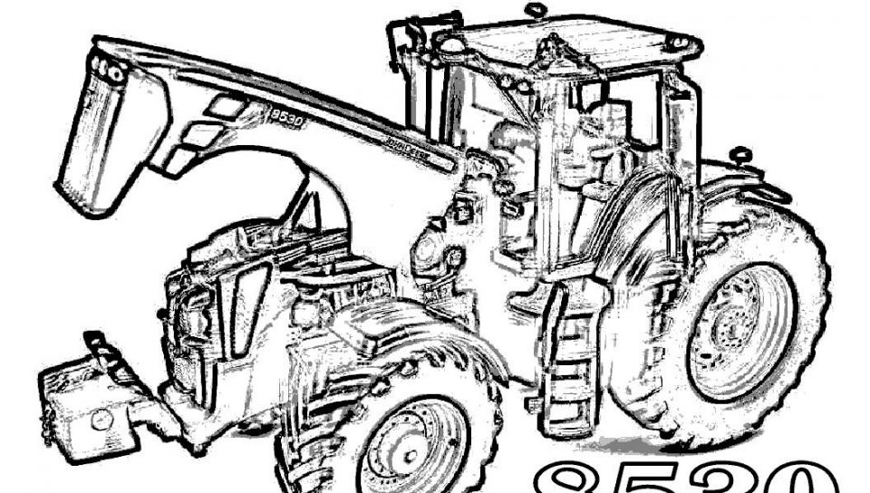 960x544 Farmer Coloring Book And Farm Equipment Constructions Pages Kids