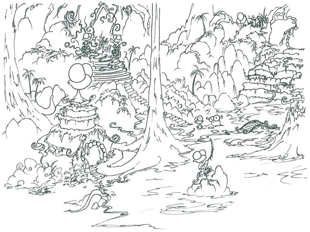 1024x767 Tropical Rainforest Flowers Coloring Pages Kids Coloring Elegant
