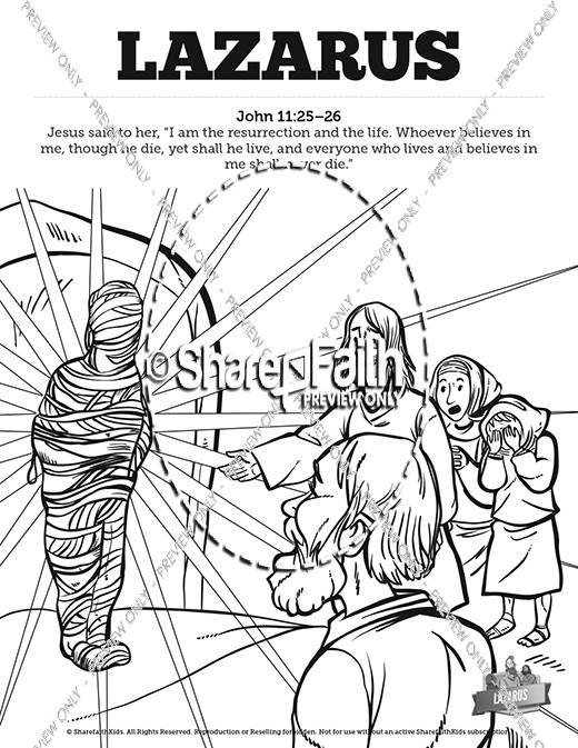 520x673 John Lazarus Sunday School Coloring Pages Sunday School