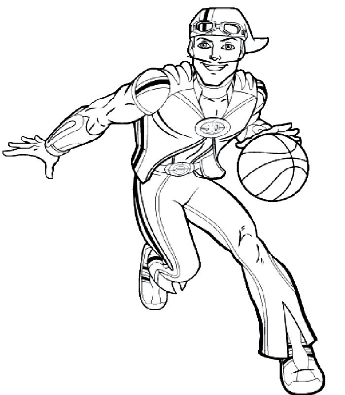Lazy Town Coloring Pages