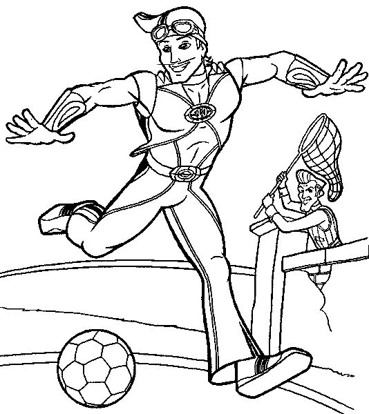 534x600 Lazy Town Coloring Pages Coloring Lazy Town And Lazy