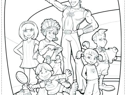440x330 Lazy Town Coloring Pages Town Coloring Page Is Coming To Town
