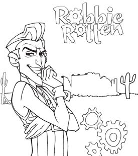 275x310 Robbie Rotten Colouring On Print And Colour