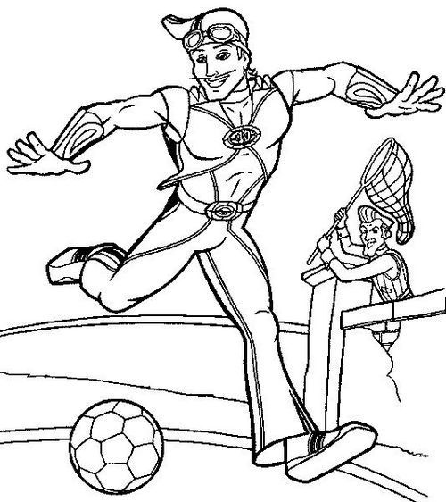 500x562 Sportacus From Lazy Town Coloring Sheet For Years And Up
