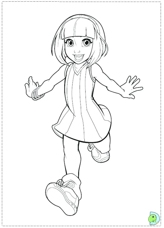 691x960 Town Coloring Pages Stephanie Lazy Town Colouring Pages