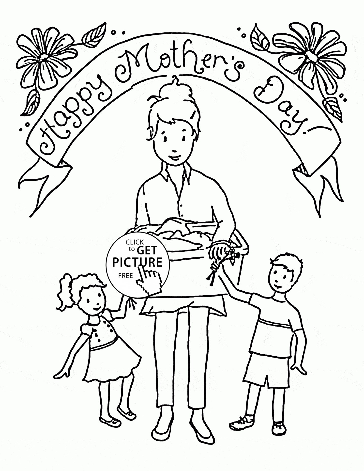 1480x1914 Mothers Day Coloring Pages Lds Copy Happy Mother And Her Kids