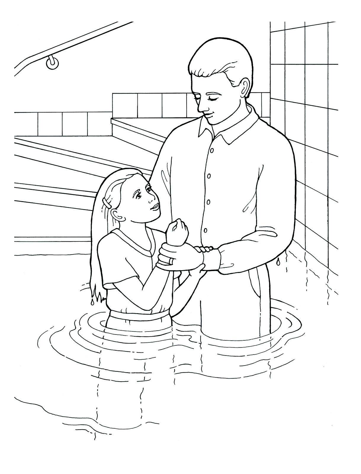 1219x1600 Baptism Day! Primary Coloring Page