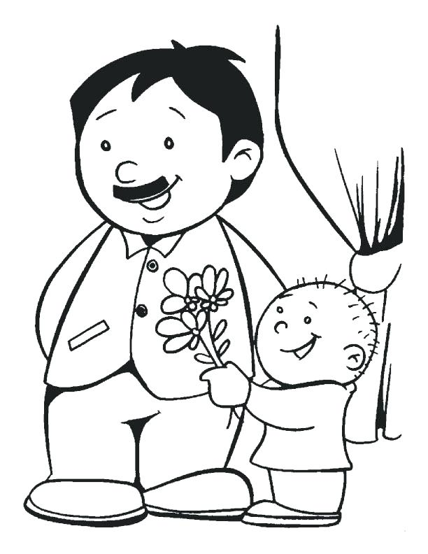 612x792 Coloring Pages Of Love Father Coloring Page Download Fathers Day
