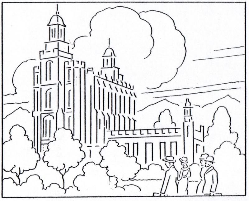 800x644 Logan Temple Coloring Page Lds Lesson Ideas