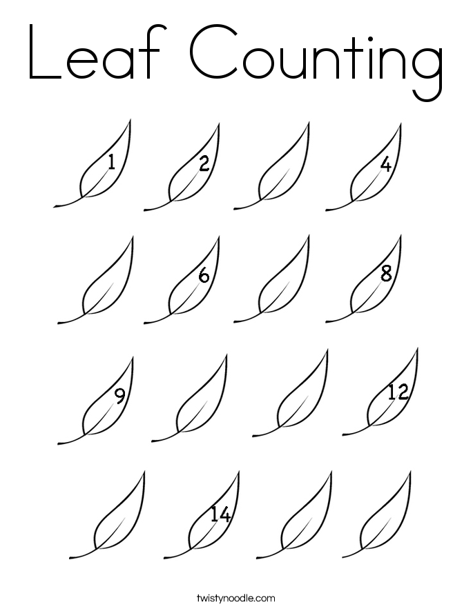 685x886 Leaf Counting Coloring Page