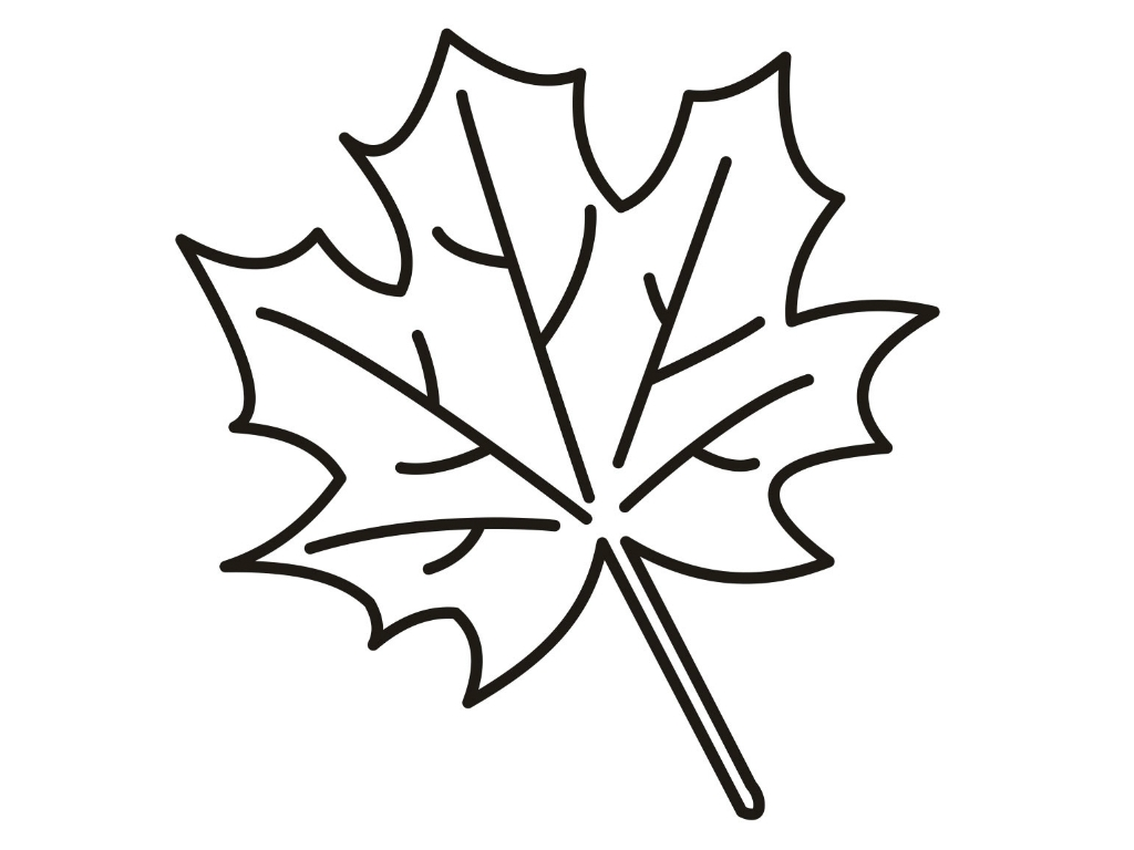 1024x768 Love Leaf Coloring Pages For Preschool Autumn With Free