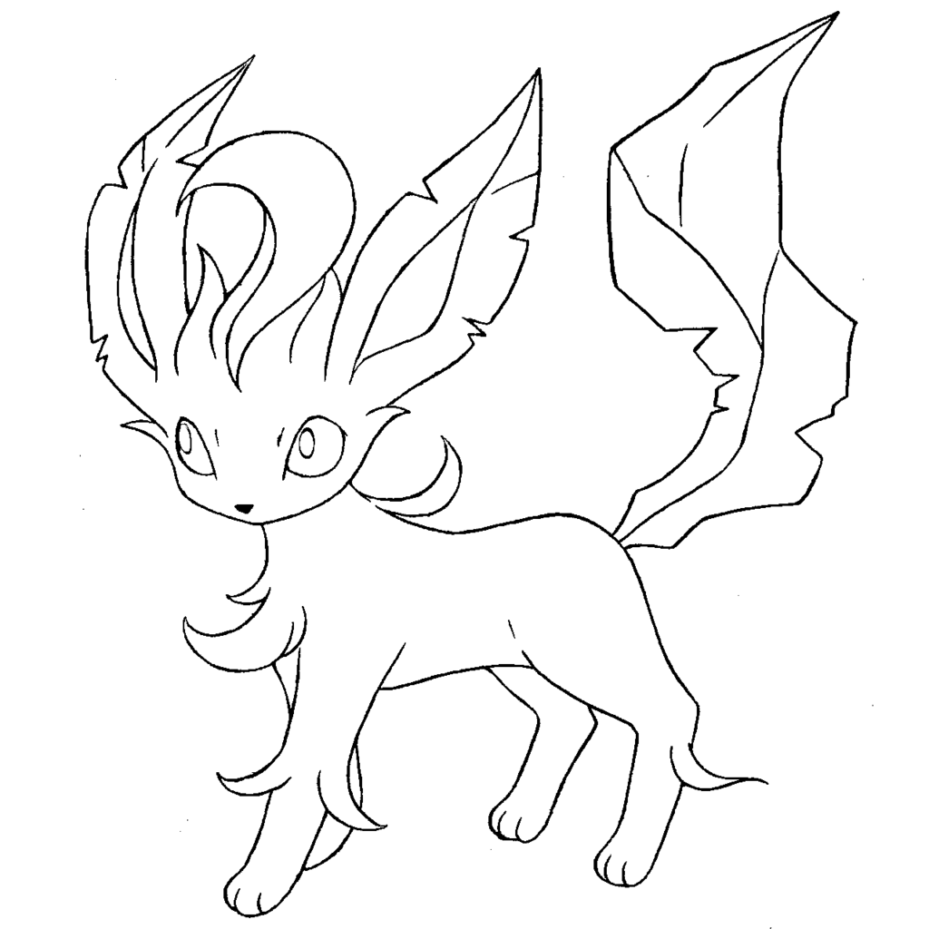 1024x1024 Leafeon Coloring Pages Coloring Book Pokemon
