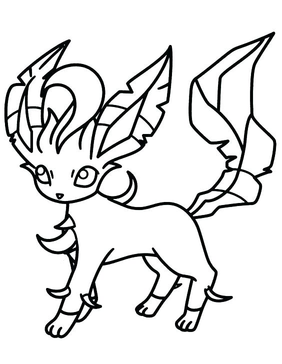 564x728 Leafeon Coloring Pages Coloring Pages Coloring Pages Colouring