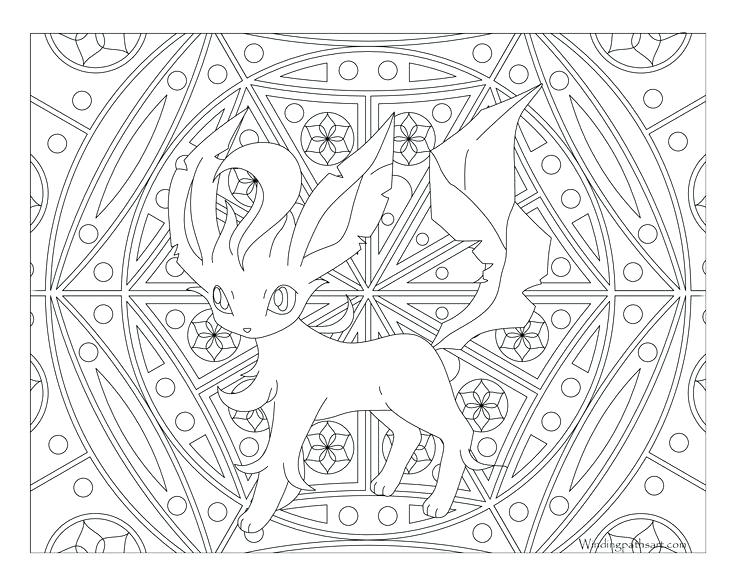 735x568 Leafeon Para Colorear Free Printable Coloring Page Visit Our Page