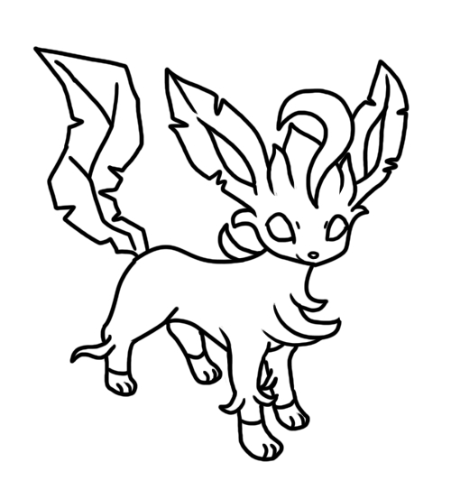 500x543 Pokemon Coloring Pages Of Leafeon Leafeon Coloring Pages Page