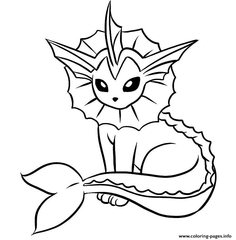 808x819 Vaporeon Coloring Pages Printable