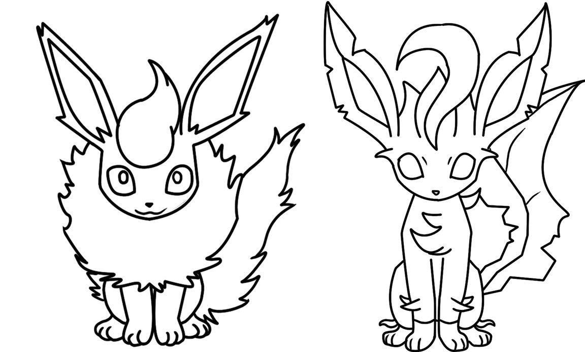 1152x694 Flareon Coloring Pages And Leafeon Page Bellatrixie White