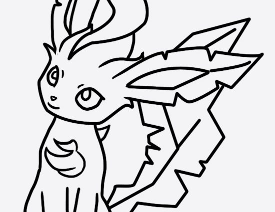 550x425 Pokemon Coloring Pages Leafeon Leafeon Coloring Page Bellatrixie