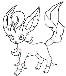 260x302 How To Draw Leafeon