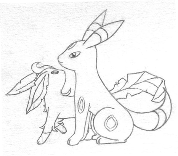 601x527 Leafeon Coloring Page Free Download