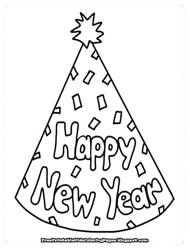 640x842 New Year Coloring Pages Happy New Year Free Leap Year Coloring