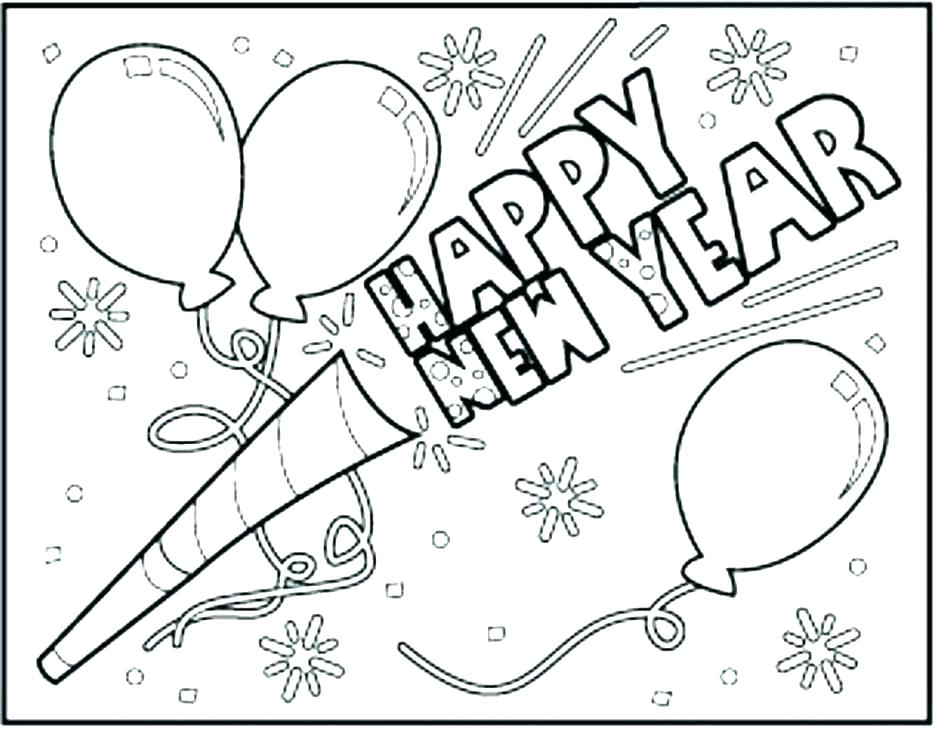 936x729 Happy New Year Coloring Pages Happy New Year Coloring Pages Print