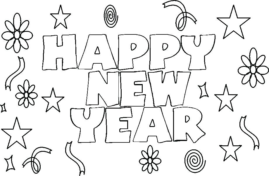 920x603 Happy New Year Coloring Pages Packed With New Years Coloring Pages