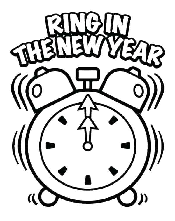 600x757 Happy New Years Coloring Pages X Happy Leap Day Coloring Page